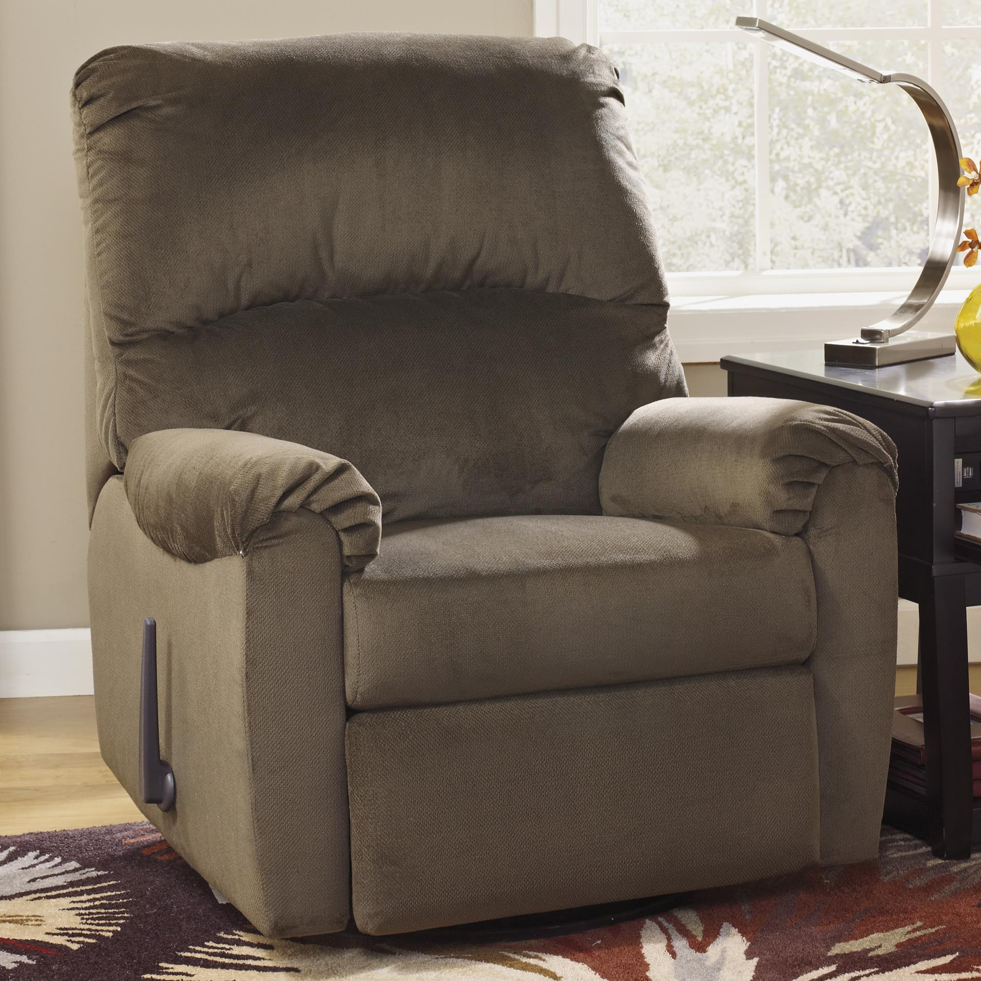 Signature Design by Ashley McFarin - Umber Swivel Glider Recliner - Item Number: 5500061