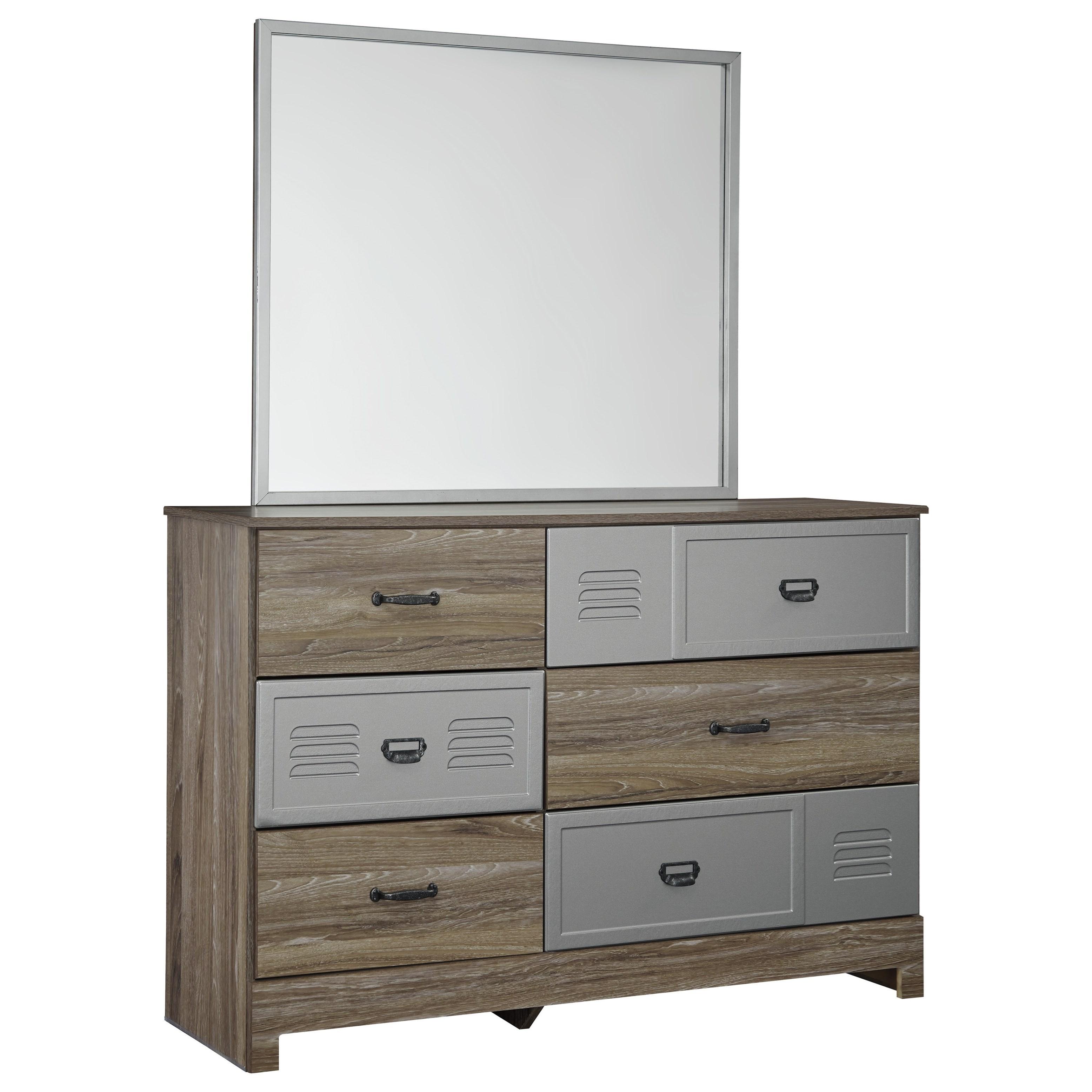 Signature Design by Ashley McKeeth Dresser & Bedroom Mirror - Item Number: B099-21+26