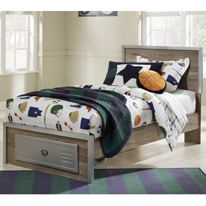 Signature Design by Ashley McKeeth Twin Bed with Footboard Drawer