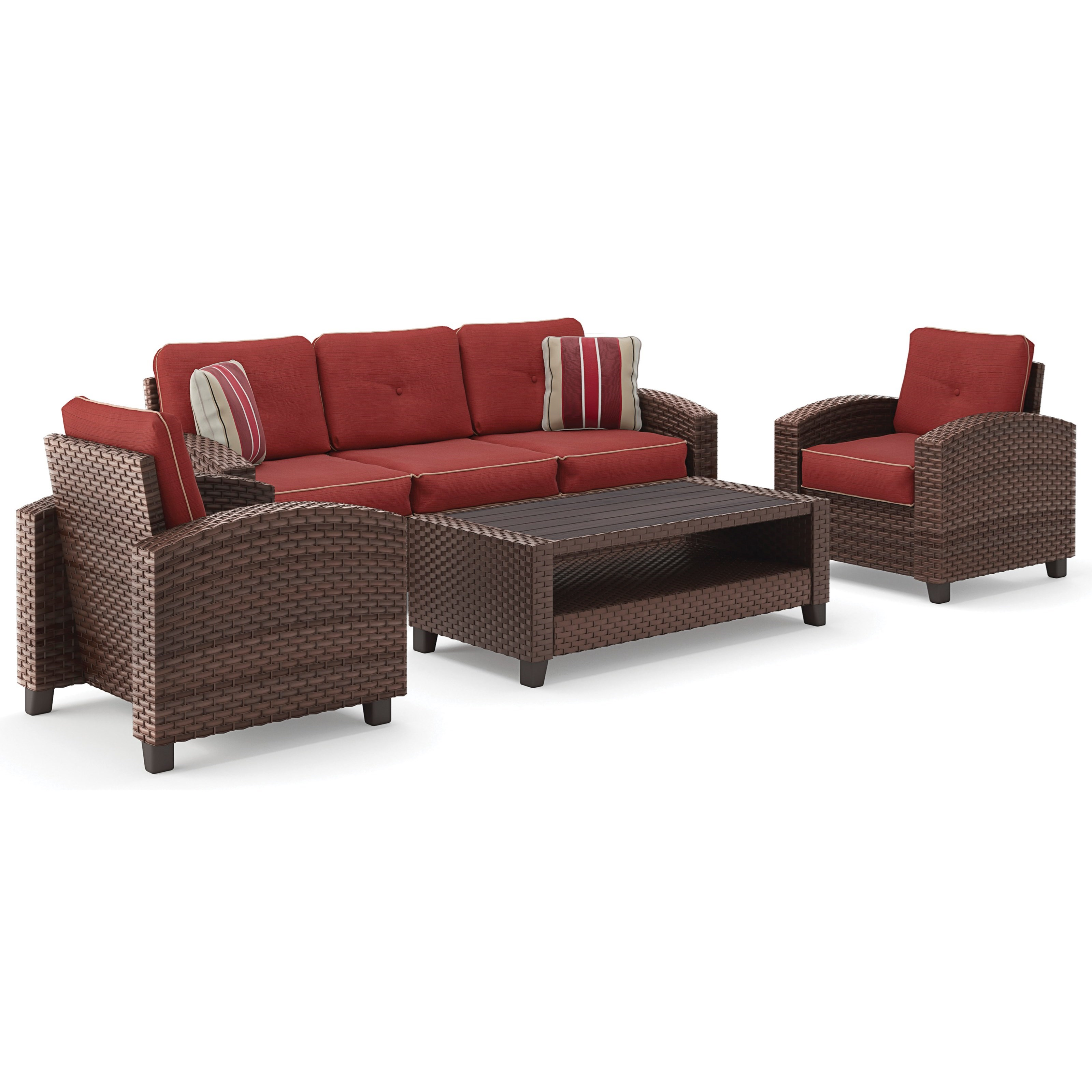 Signature Design by Ashley Meadowtown Outdoor Conversation Set - Item Number: P333-081