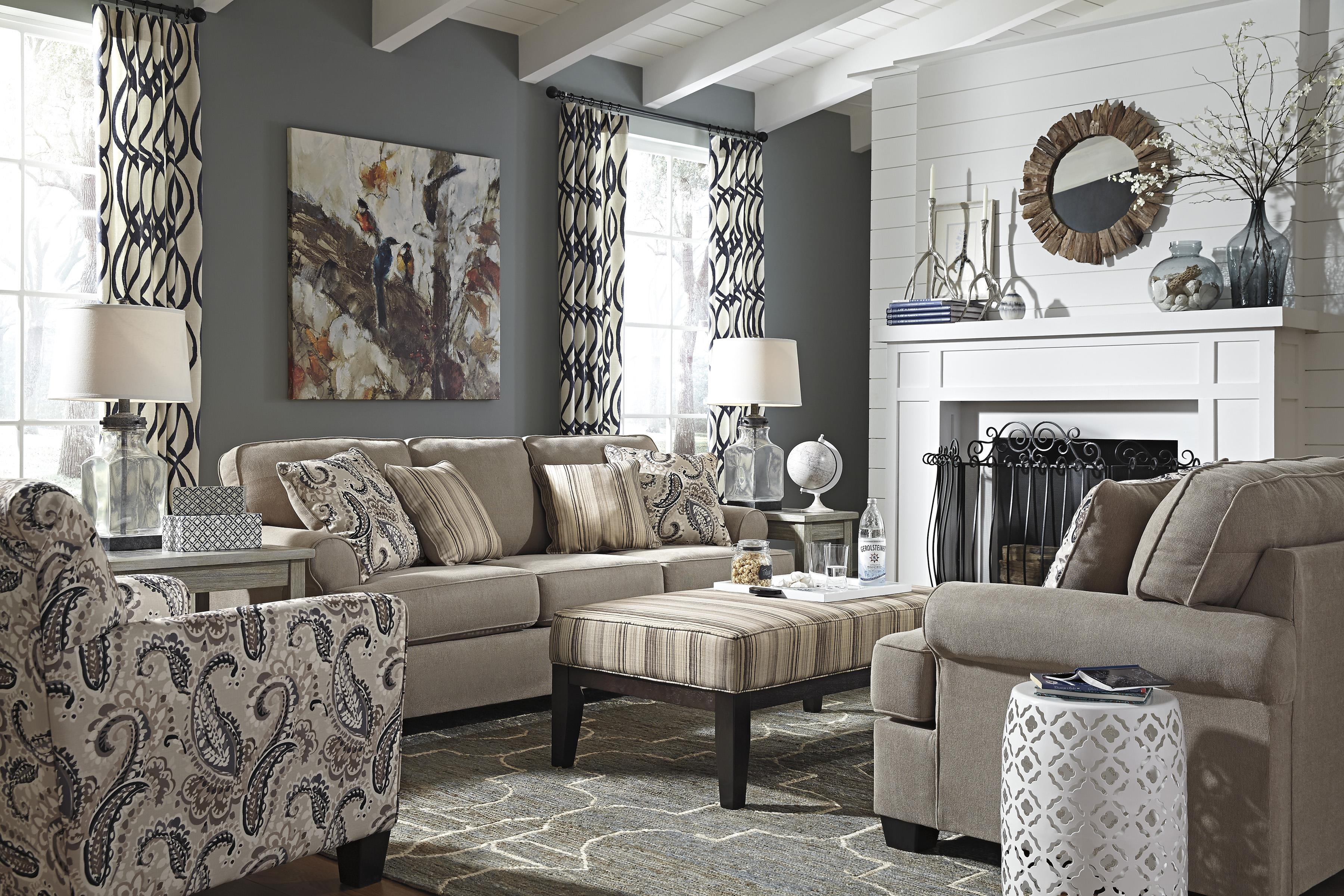 Signature Design by Ashley Melaya Stationary Living Room Group - Item Number: 47800 Living Room Group 3