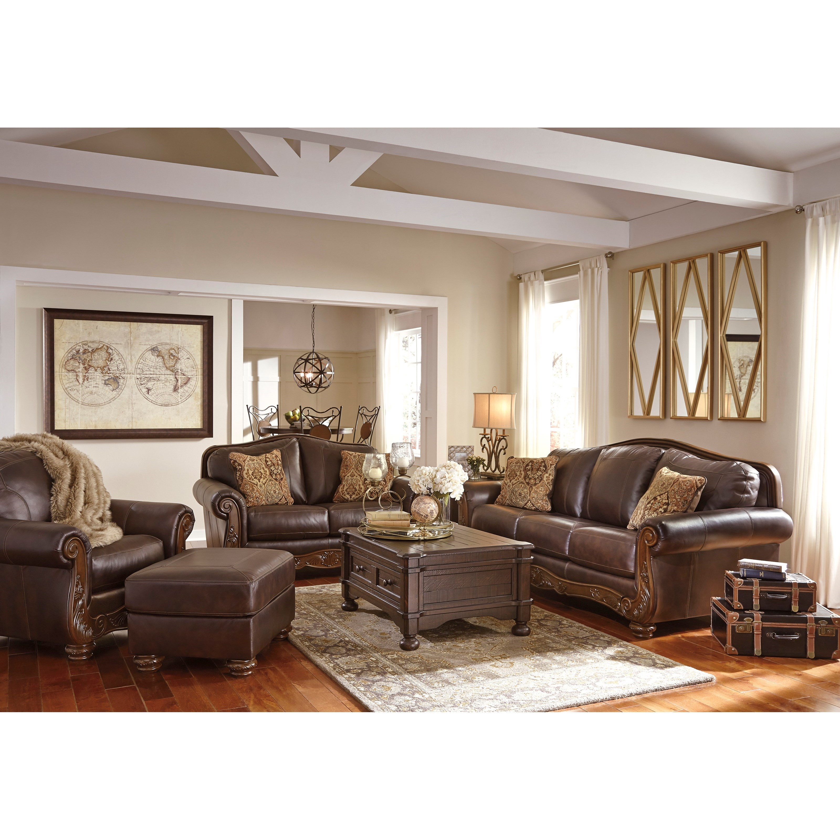Signature Design by Ashley Mellwood Stationary Living Room Group - Item Number: 64605 Living Room Group 2