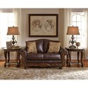 Signature Design by Ashley Mellwood Traditional Leather Match Loveseat