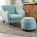 Signature Design by Ashley Menga Accent Chair & Ottoman with Storage - Item Number: A3000034+33