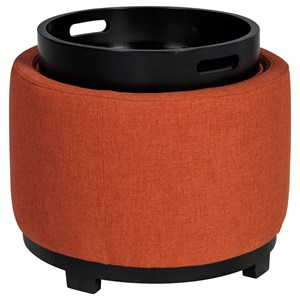Signature Design by Ashley Menga Ottoman With Storage/Reversible Tray Top