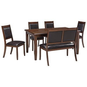 Signature Design by Ashley Meredy 6-Piece Dining Room Table Set
