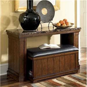 Signature Design by Ashley Merihill Sofa Table w/ Ottoman