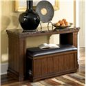 Signature Design by Ashley Merihill Sofa Table w/ Ottoman - Item Number: T838-4