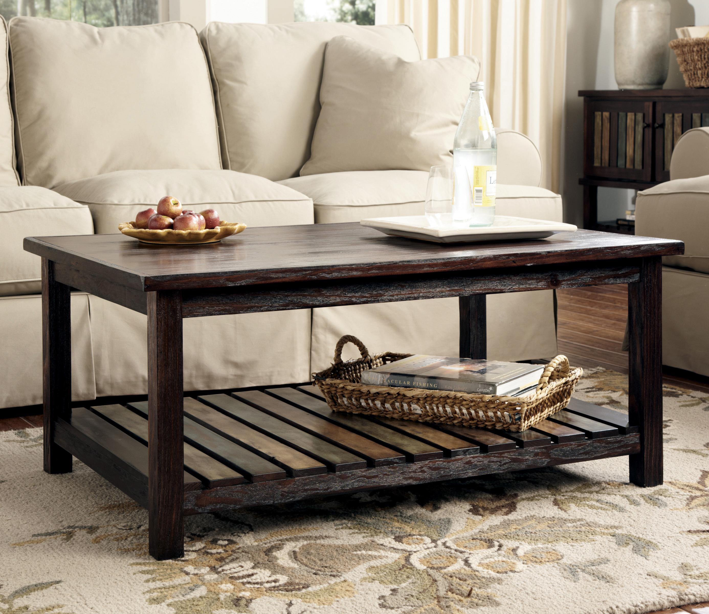 Ashley Furniture Distressed Coffee Table: Signature Design By Ashley Mestler T580-1 Rectangular