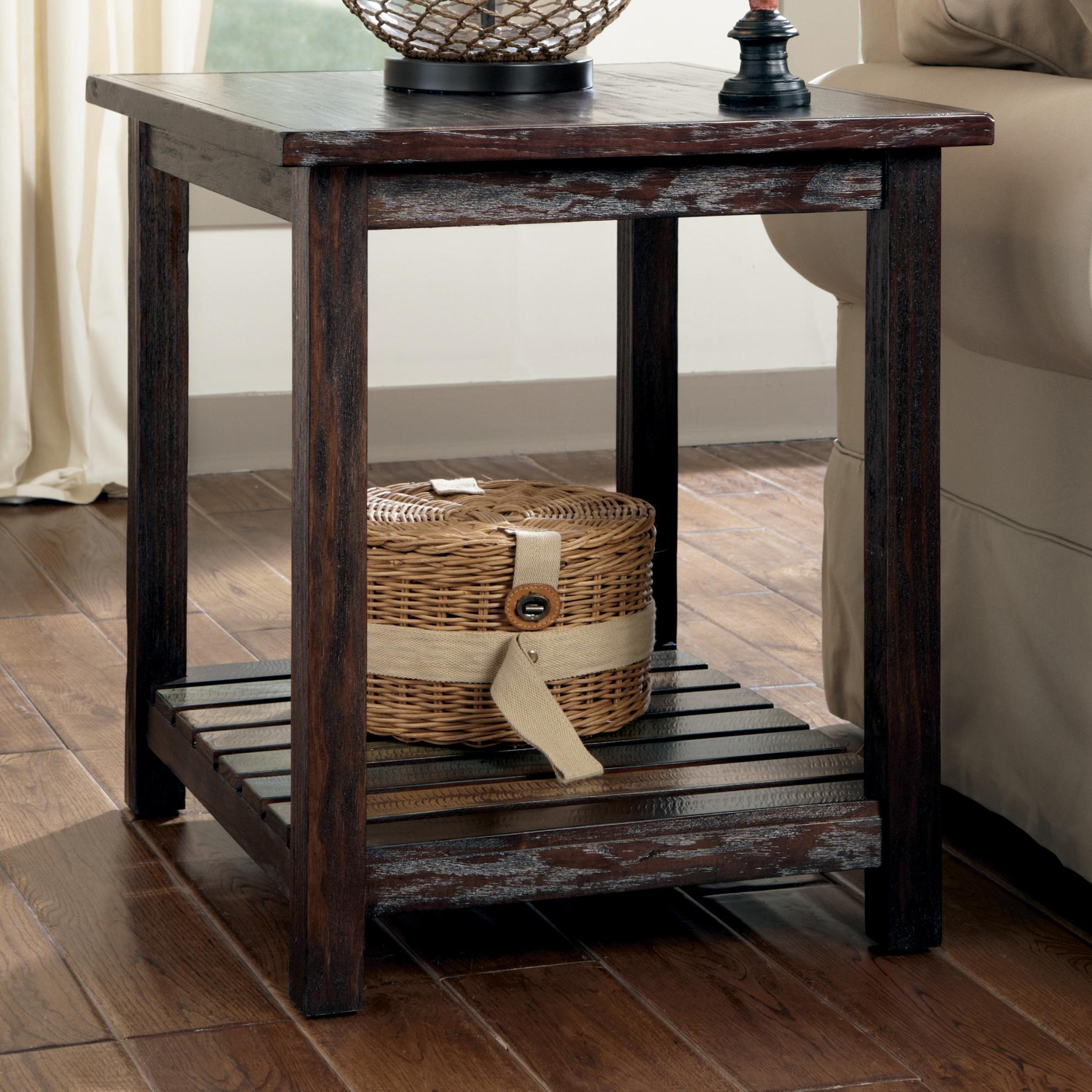 Signature Design by Ashley Mestler Rectangular End Table - Item Number: T580-3