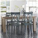 Signature Design by Ashley Mestler 5-Piece Table Set - Item Number: D240 T4 ANTIQUE BLUE
