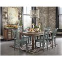 Signature Design by Ashley Mestler Antique Blue/Green Dining Room Side Chair