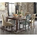 Signature Design by Ashley Mestler 7-Piece Table Set - Item Number: D540-125+2x202+2x101+2x102