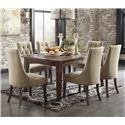 Signature Design by Ashley Mestler 7-Piece Dining Set with Upholstered Chairs - Item Number: D540-125+6x202