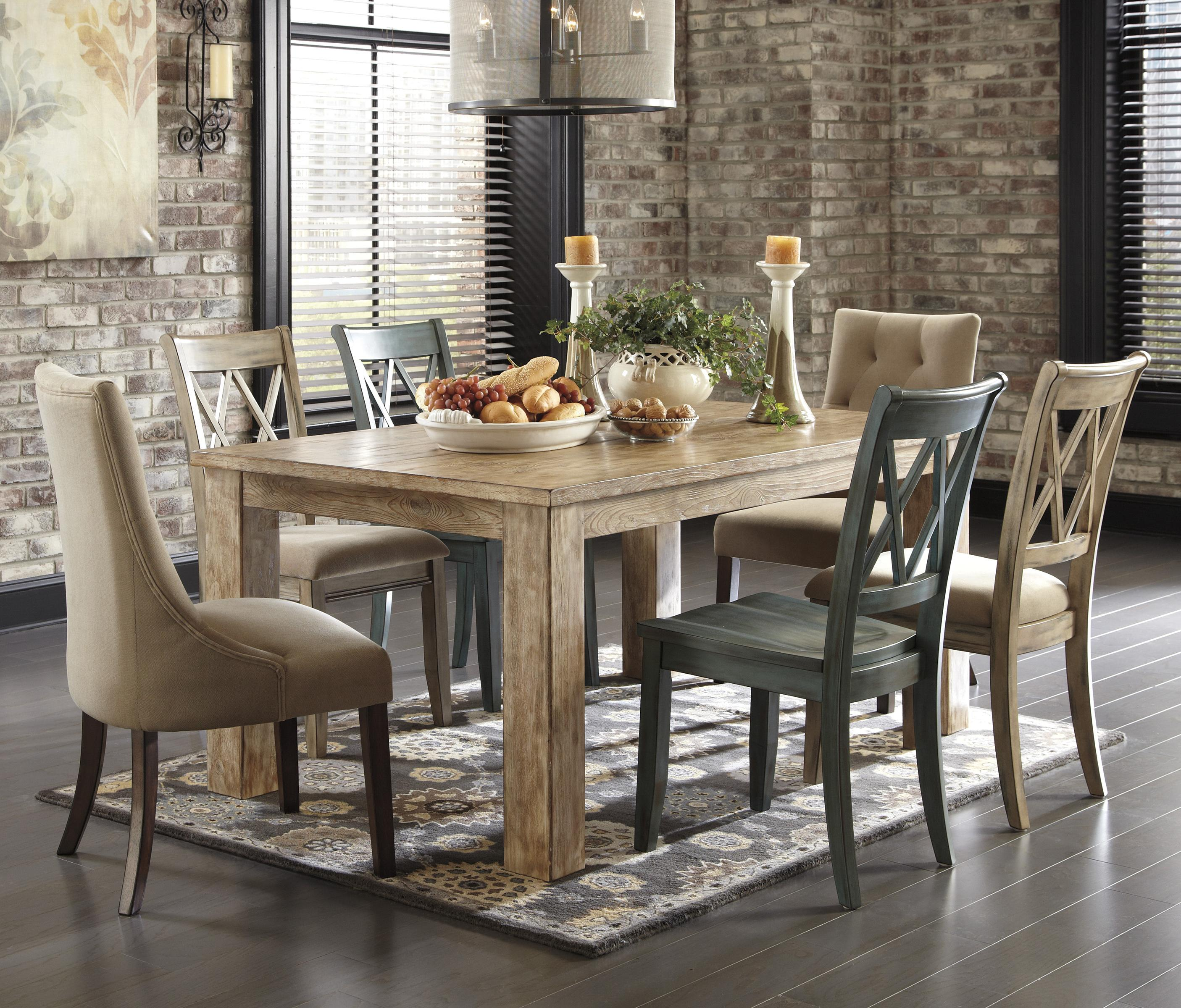Signature Design By Ashley Mestler 7 Piece Table Set   Item Number: D540