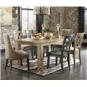 Signature Design by Ashley Mestler 7-Piece Table Set - Item Number: D540-225+2x202+2x101+2x102