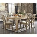 Signature Design by Ashley Mestler 7-Piece Table Set with Antique White Chairs - Item Number: D540-225+6x102