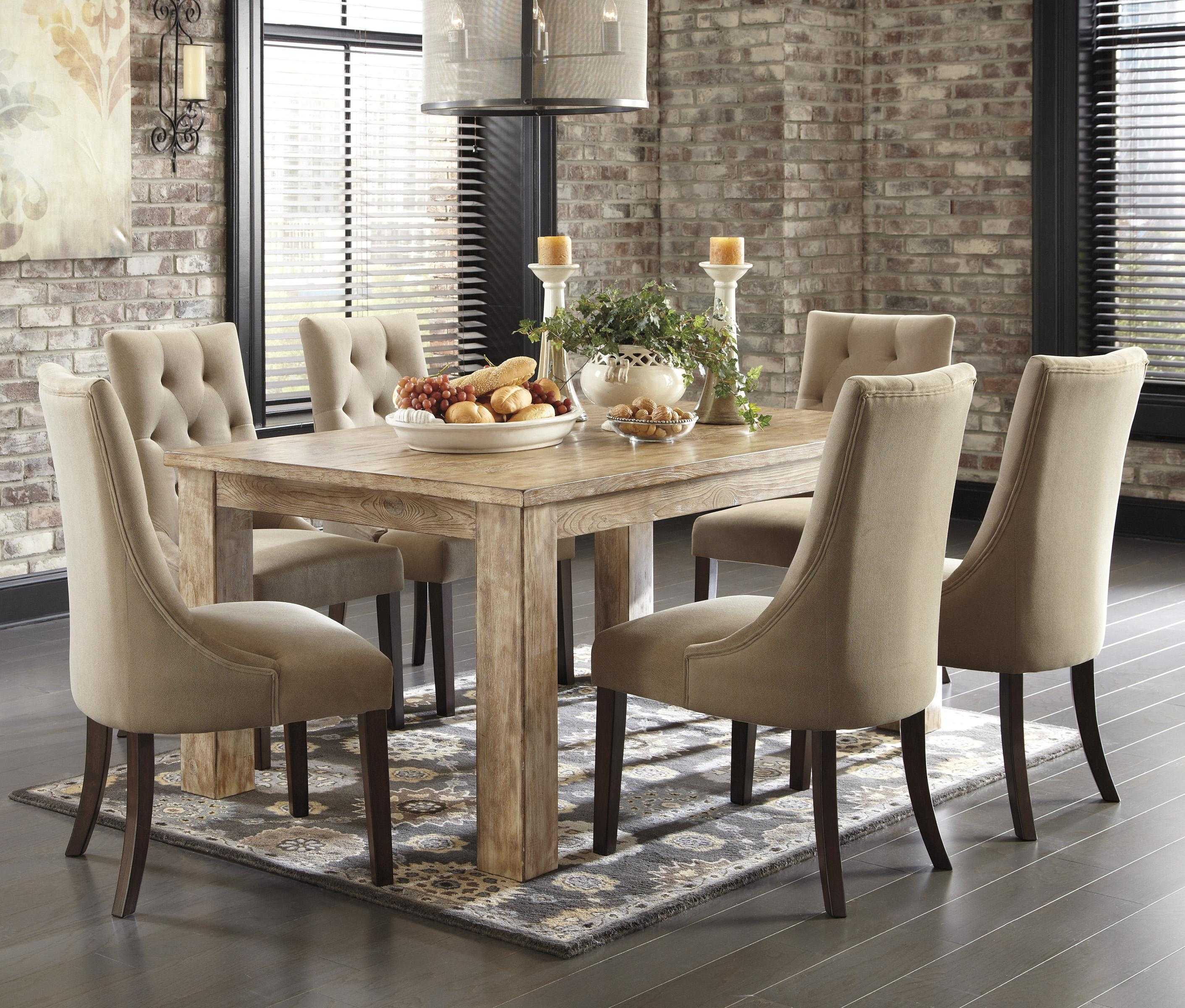 Superieur Signature Design By Ashley Mestler 7 Piece Dining Set With Upholstered  Chairs   Item Number