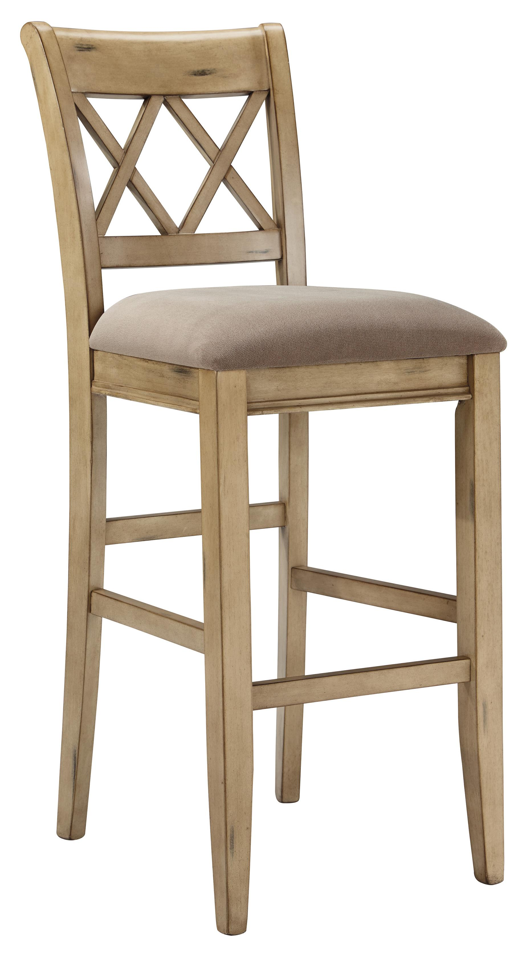 Signature Design by Ashley Mestler Tall Upholstered Barstool - Item Number: D540-230