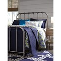Signature Design by Ashley Nashburg Queen Metal Bed in Aged Pewter Finish