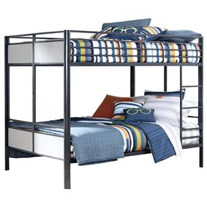 Signature Design by Ashley Metal Bunk Beds Full/Full Metal Bunk Bed