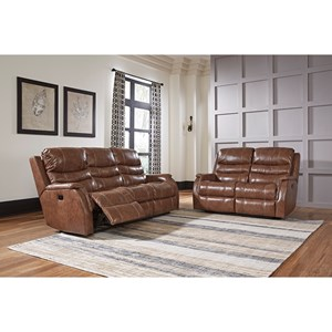 Ashley Signature Design Metcalf Reclining Living Room Group