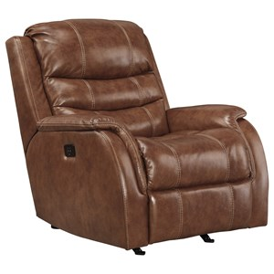 Signature Design by Ashley Metcalf Power Rocker Recliner w/ Adjustable Headrest