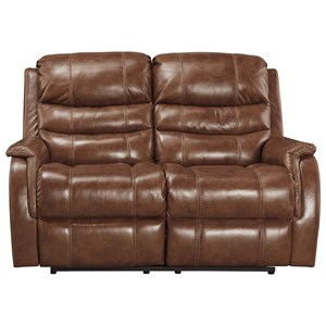 Signature Design by Ashley Metcalf Power Reclining Loveseat w/ Adj. Headrest