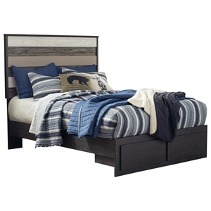 Signature Design by Ashley Micco Full Panel Bed with Storage Footboard