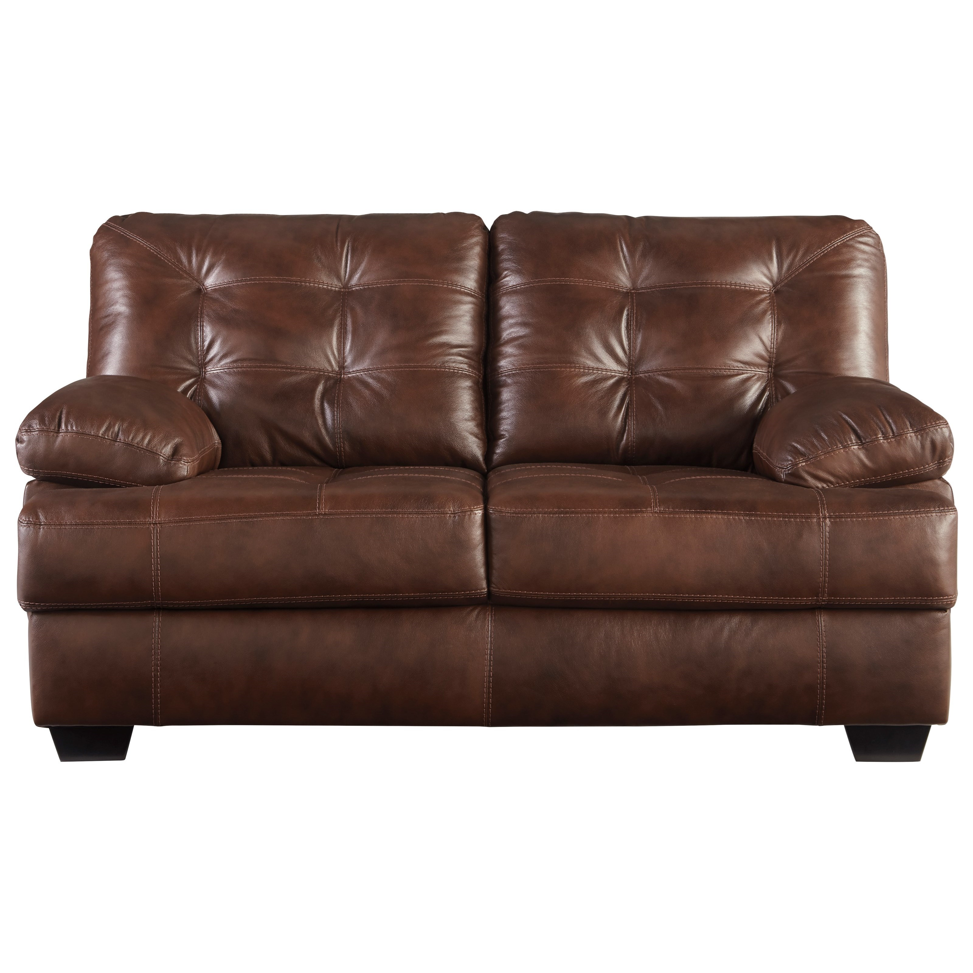 Signature Design by Ashley Mindaro Leather Match Loveseat with