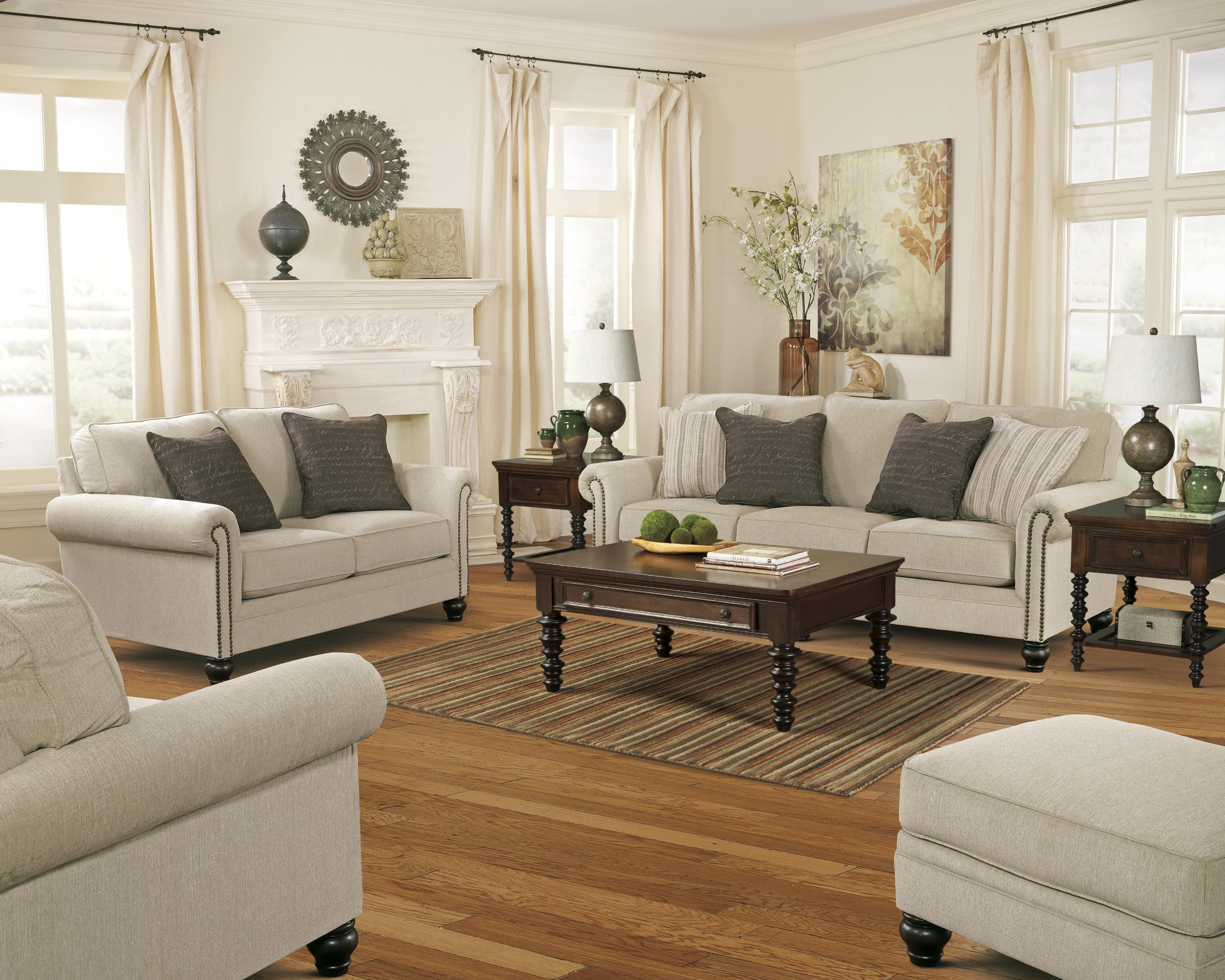 Signature Design By Ashley Milari Linen Transitional Ottoman With Turned Feet Miskelly