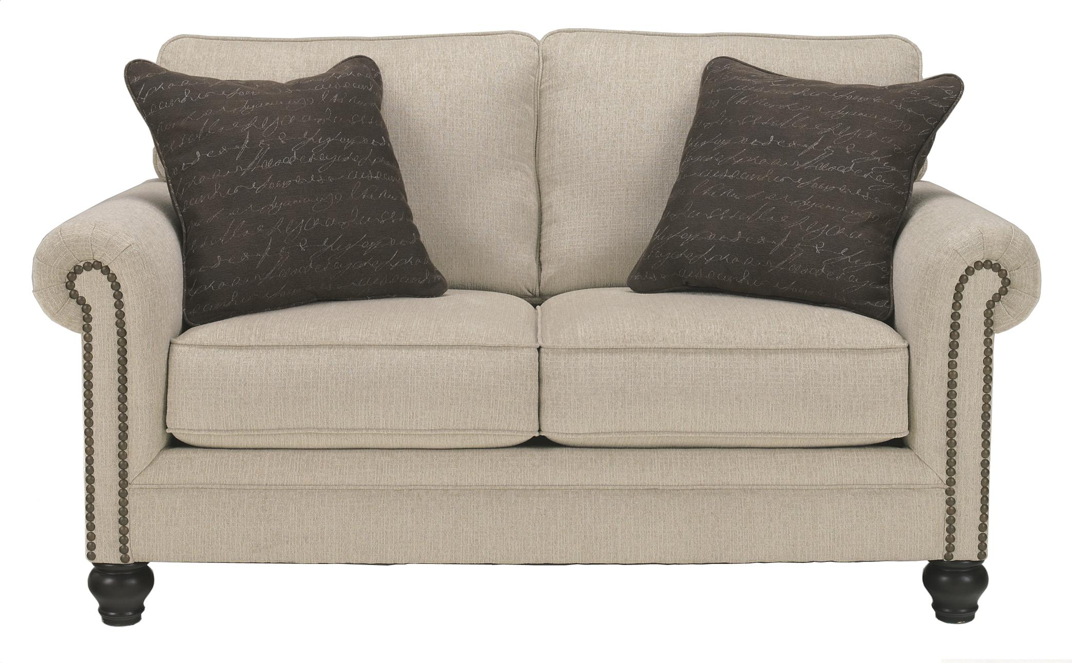 Ashley Signature Design Milari Linen Transitional Loveseat with