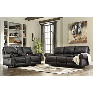 Signature Design by Ashley Furniture Milhaven Reclining Living Room Group