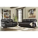 Signature Design by Ashley Milhaven Reclining Living Room Group - Item Number: 63303 Living Room Group 1