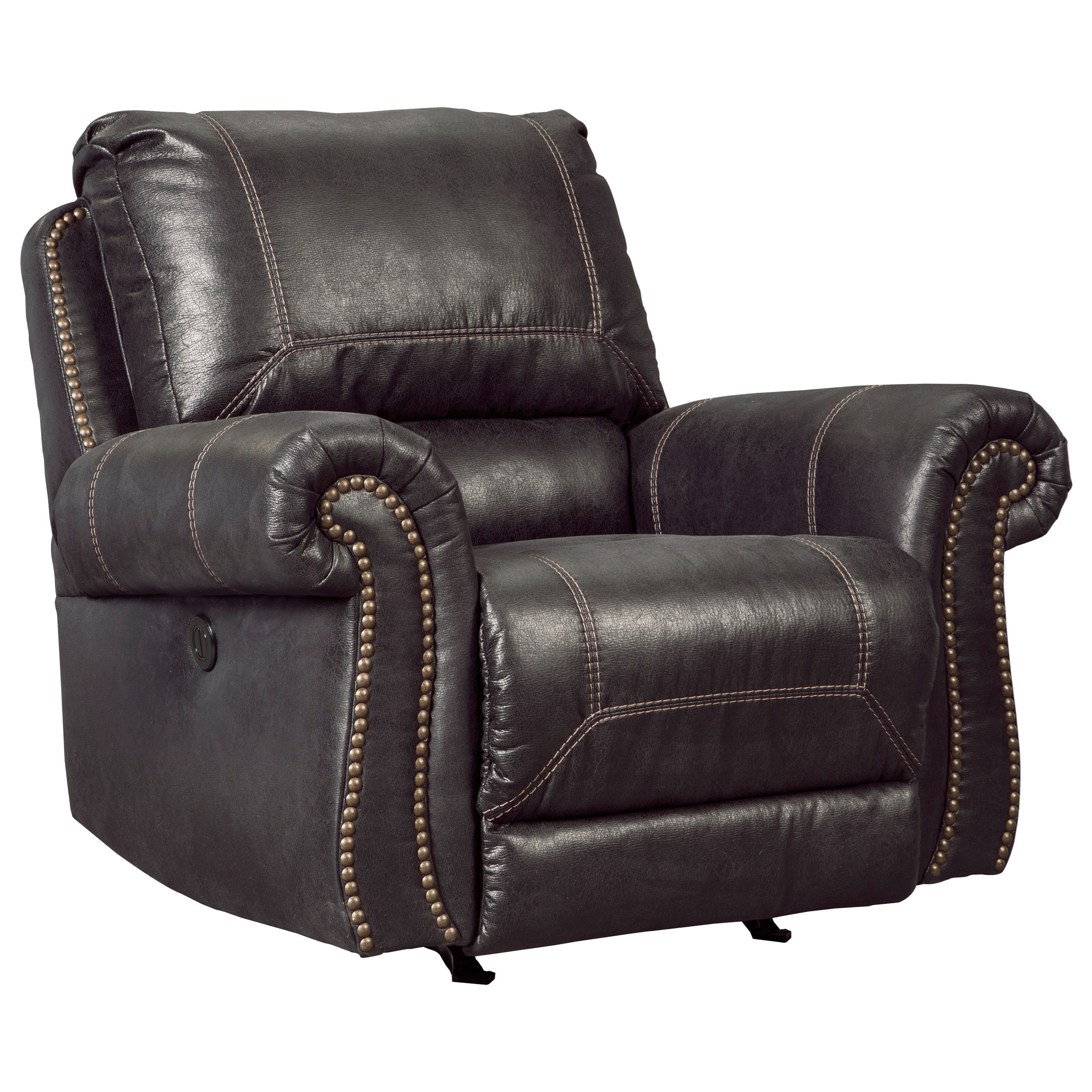 Signature Design by Ashley Milhaven Power Rocker Recliner - Item Number: 6330398