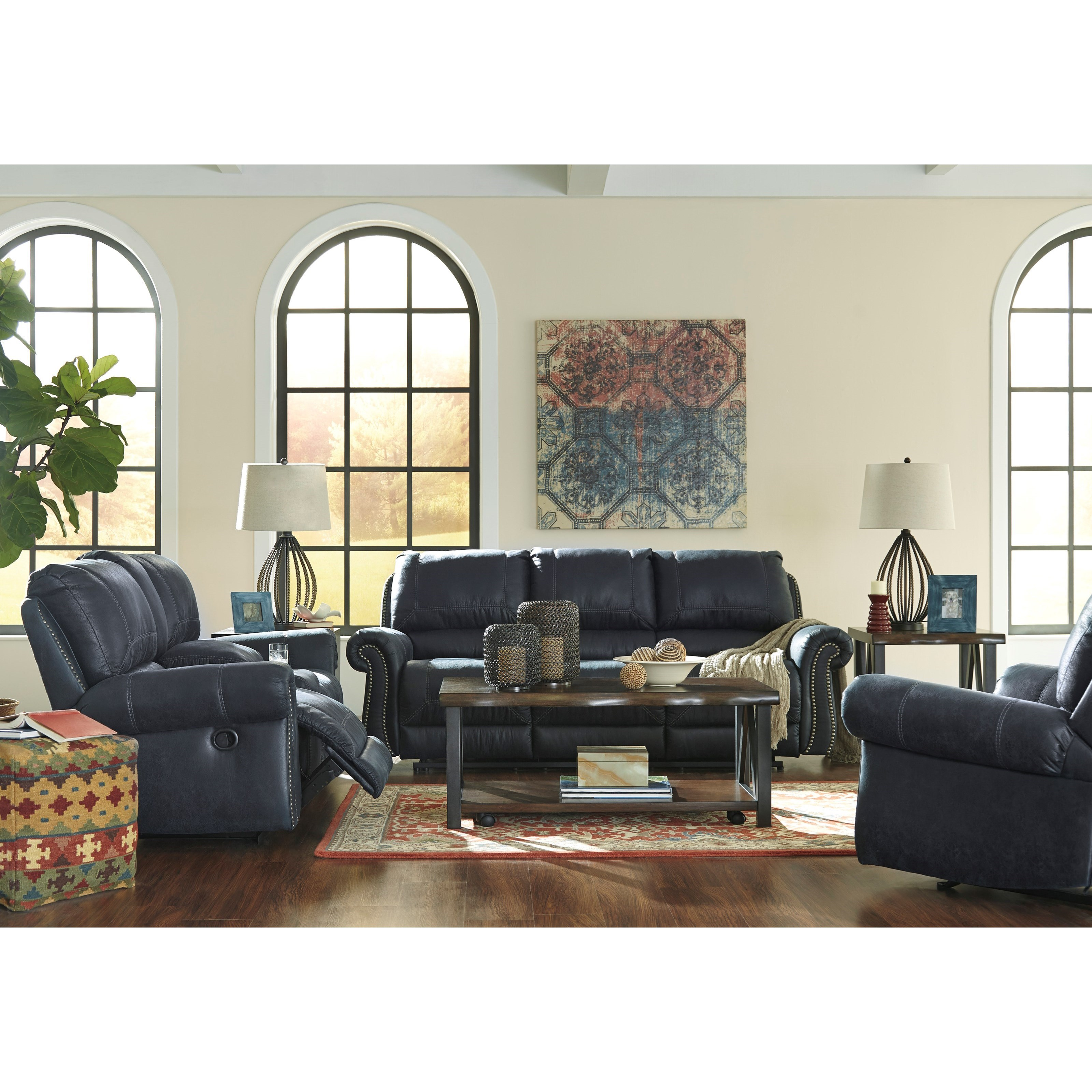 Signature Design by Ashley Milhaven Reclining Living Room Group - Item Number: 63304 Living Room Group 3