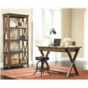 Signature Design by Ashley Minbreeze Pine Veneer Home Office Large Leg Desk with X-Base