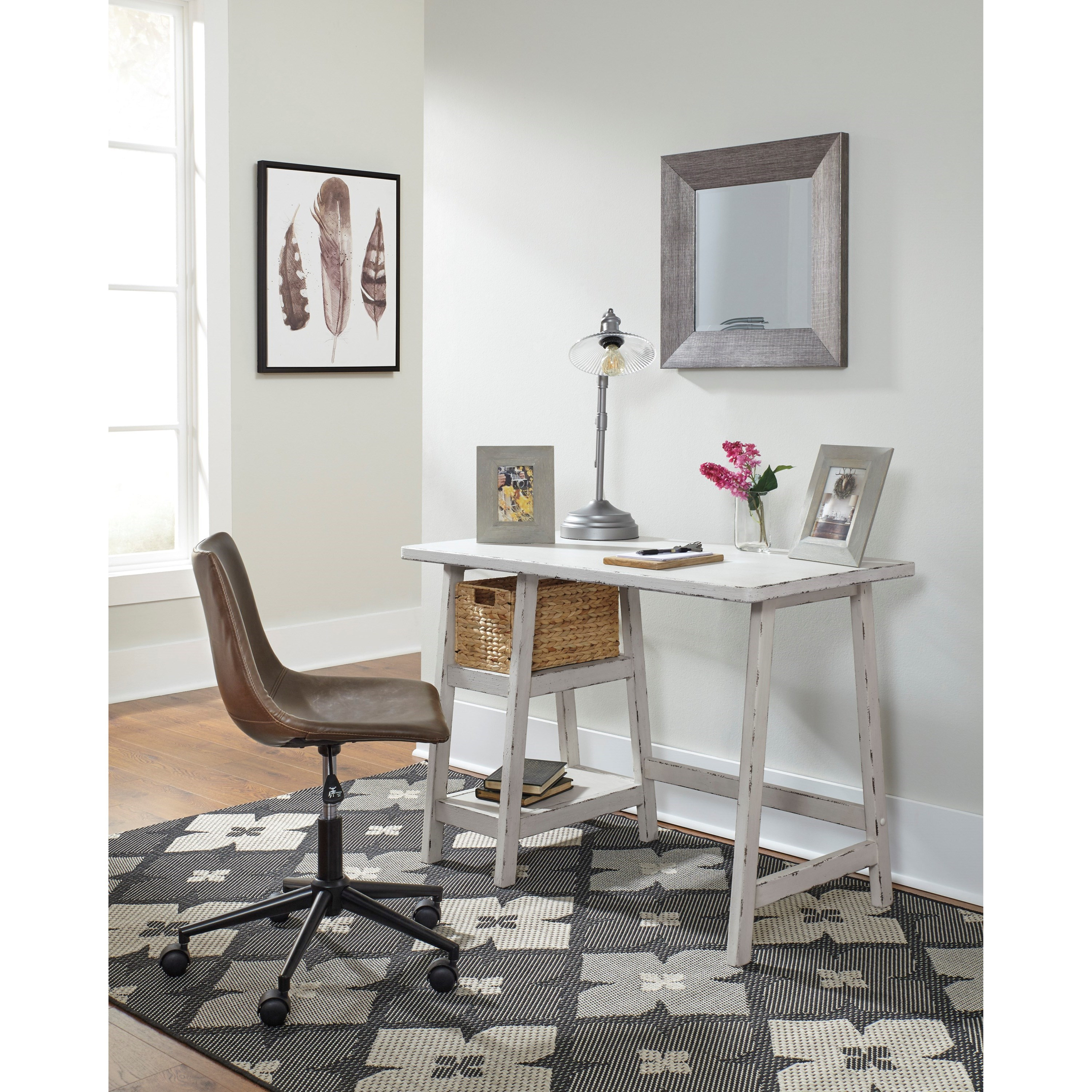 Small Home Office Furniture: Signature Design By Ashley Mirimyn H505-510 Home Office