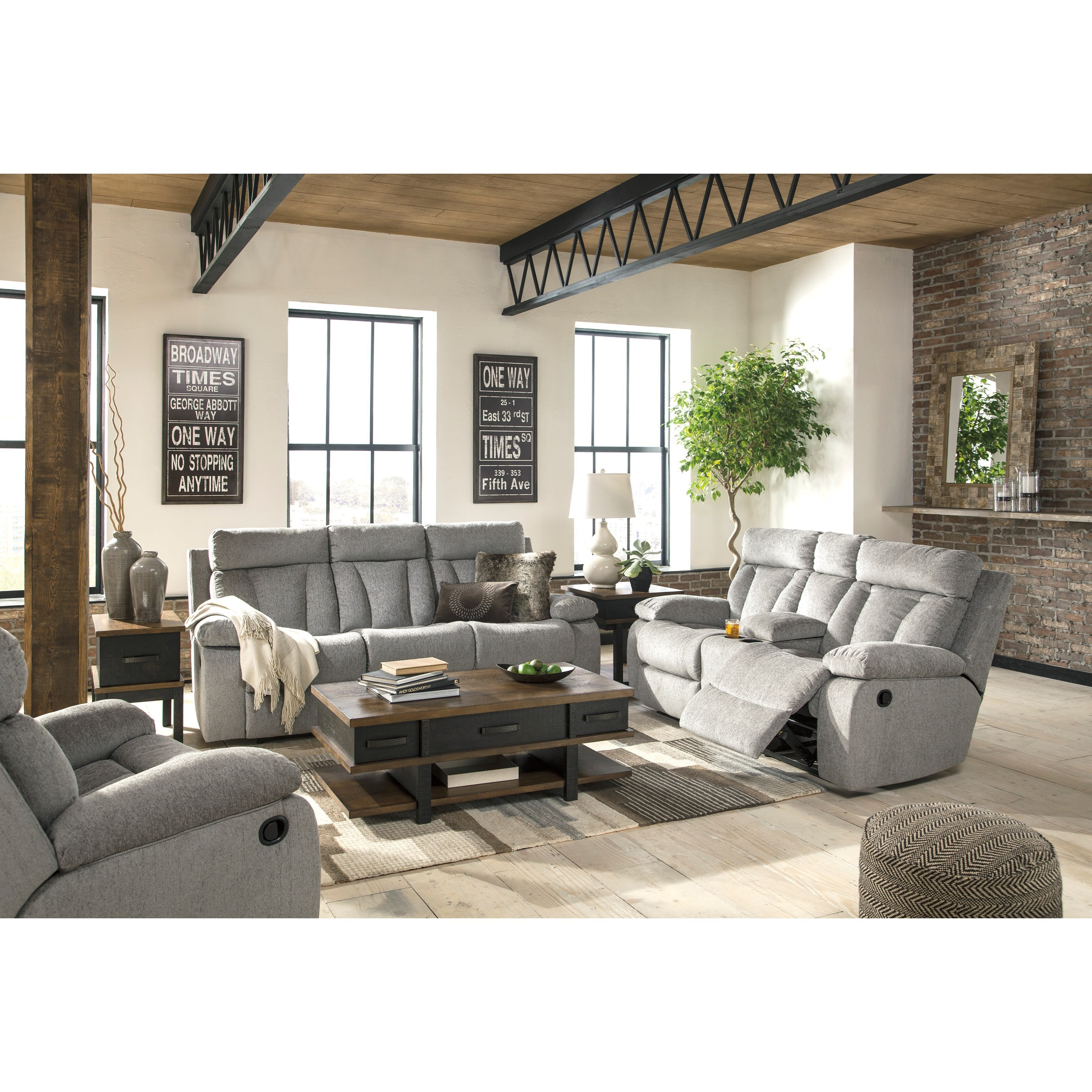 living room furniture groupings signature design by mitchiner reclining living room 13312