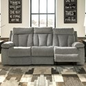 Signature Design by Ashley Mitchiner Casual Reclining Sofa with Drop Down Table