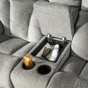 Signature Design by Ashley Mitchiner Casual Double Reclining Love Seat with Console - Storage console and cupholders