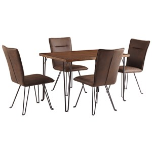 Signature Design by Ashley Moddano 5 Piece Dining Table Set