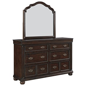 Signature Design by Ashley Moluxy Dresser & Bedroom Mirror