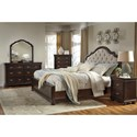 Signature Design by Ashley Moluxy King Bed with Upholstered Sleigh Headboard