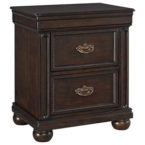 Signature Design by Ashley Moluxy Two Drawer Night Stand