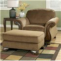 Signature Design by Ashley Montgomery - Mocha Chair & Ottoman - Item Number: 3830020+14