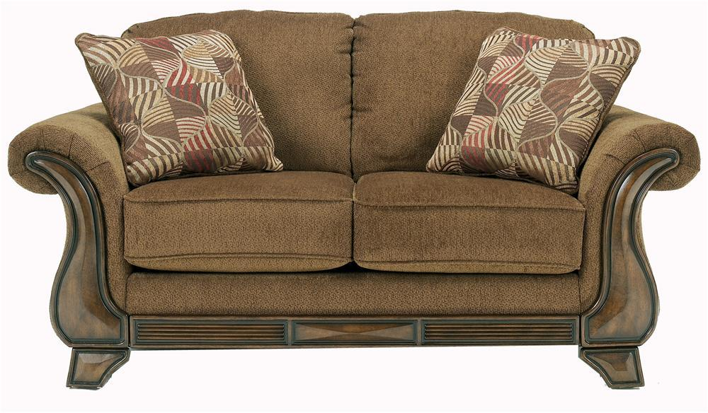 Signature Design by Ashley Montgomery - Mocha Loveseat - Item Number: 3830035