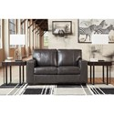 Signature Design by Ashley Morelos Contemporary Leather Match Loveseat