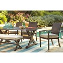 Signature Design by Ashley Moresdale Set of 4 Outdoor Chairs with Cushion