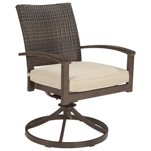 Ashley (Signature Design) Moresdale Set of 2 Outdoor Swivel Chairs w/ Cushion